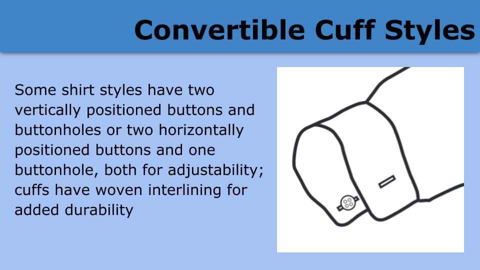 Convertible Cuff Styles