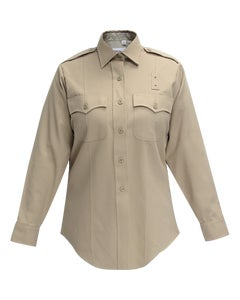 DELUXE TROPICAL  POLY/RAYON WOMEN'S LONG SLEEVE SHIRT