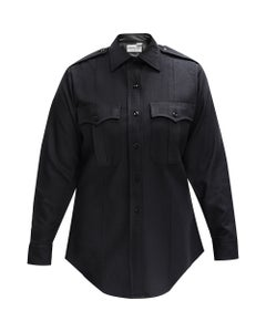 Front view of Flying Cross Women's Command 100% polyester long sleeve shirt for public safety uniforms