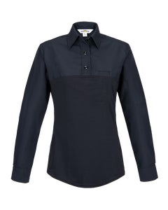 Front view of Flying Cross Women's Command hybrid long sleeve polo