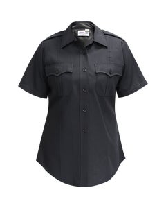 DELUXE TACTICAL POLY/RAYON/LYCRA WOMENS SS SHIRT LAPD NAVY