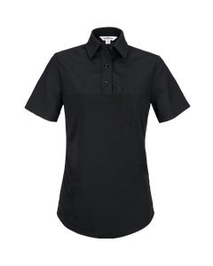 Front view of Flying Cross Women's Command hybrid patrol short sleeve polo shirt