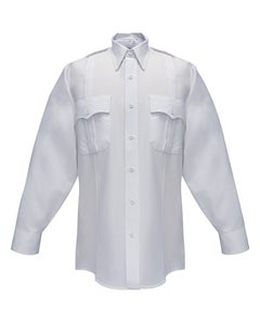 DURO POPLIN 65% POLY/35% COTTON MEN'S LONG SLEEVE SHIRT WHITE
