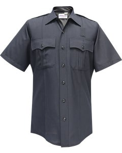 JUSTICE MEN'S SHORT SLEEVE SHIRT NAVY BLUE