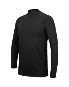 Pro Fit Split Mock Neck Long Sleeve Base Layer Shirt