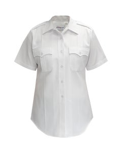 Women's Command polyester powerstretch white short sleeve shirt designed by Flying Cross