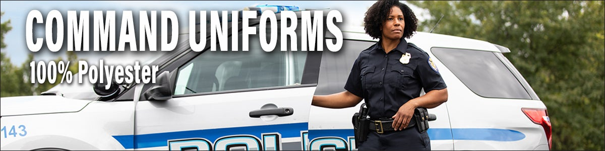 Command 100% Polyestert uniform shits and pants for police and public safety